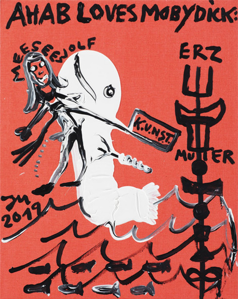 JONATHAN MEESE LOVEY MEESE DOC, 2019 acrylic on canvas 100 x 80 cm