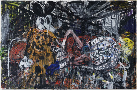 ARMEN ELOYAN Mickey Mouse, Youth, 2009 oil on canvas 240 x 360 cm