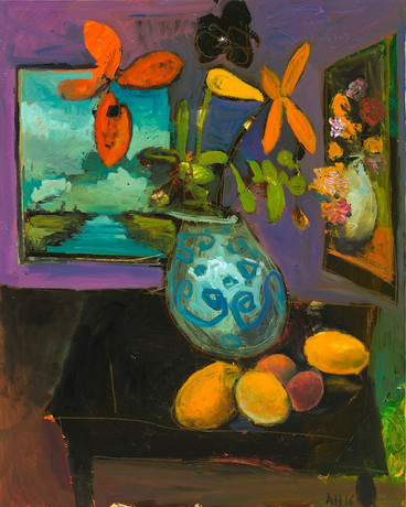 ANTON HENNING, Blumenstilleben mit Früchten, No. 55, 2016