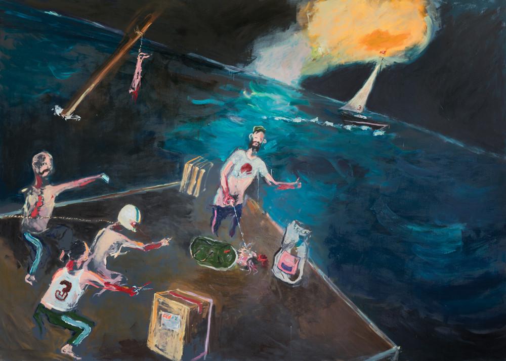 AARON VAN ERP, Victorie, een booreilandschilderij, 2014
