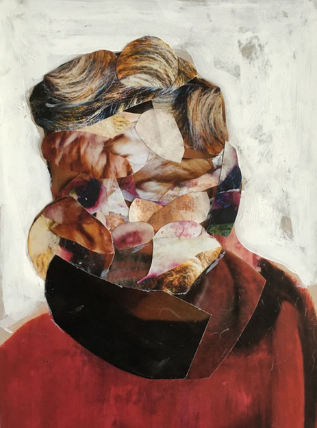 ADRIAN GHENIE Study for Self-Portrait in Winter, 2015 collage and acrylic on paper 24,5 x 18 cm