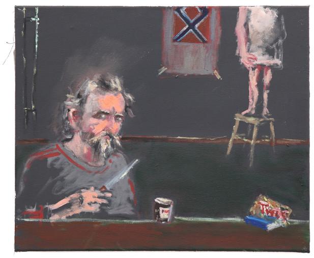 AARON VAN ERP Nutella en odalisme, 2014 oil on canvas 50 x 60 cm