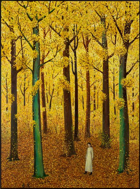 BEN SLEDSENS Autumn Walk, 2020-2021 oil and acrylic on canvas 270 x 200 cm