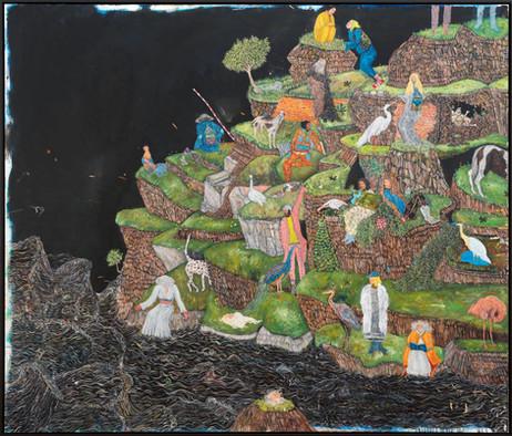 BRAM DEMUNTER Geology Island, 2021 oil on canvas 170 x 200 cm
