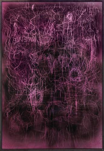EDWARD LIPSKI Mystical Vandalism VIII, 2015 mirror perspex, custom car paint, steel 148 x 101 cm