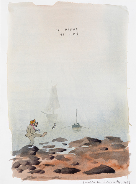FRIEDRICH KUNATH It Might Be Time, 2021 watercolor and archival ink on paper 36 x 26 cm