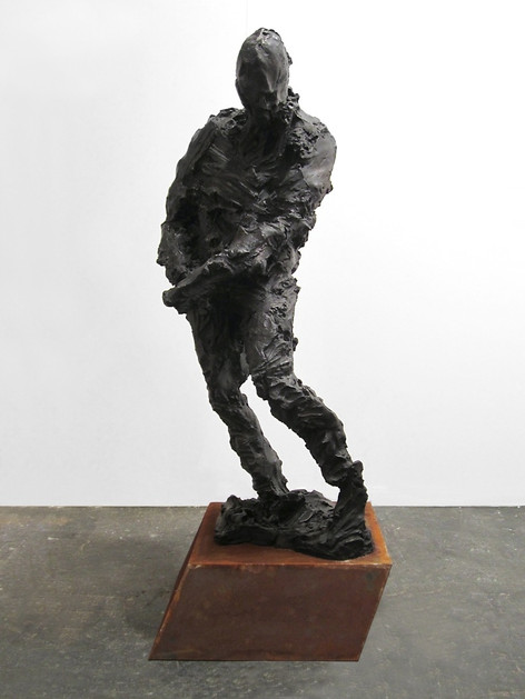 PETER ROGIERS Yonny, (One day ship comes in, M.L.), 2015 black patinated bronze, corten steel 170 x 60 x 89 cm edition of 2