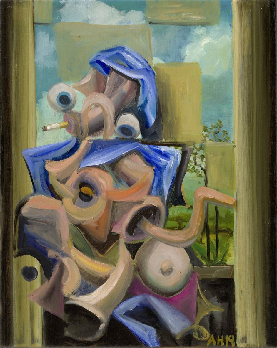 ANTON HENNING Pin-up No. 266, 2019 oil on canvas 50 x 40 cm