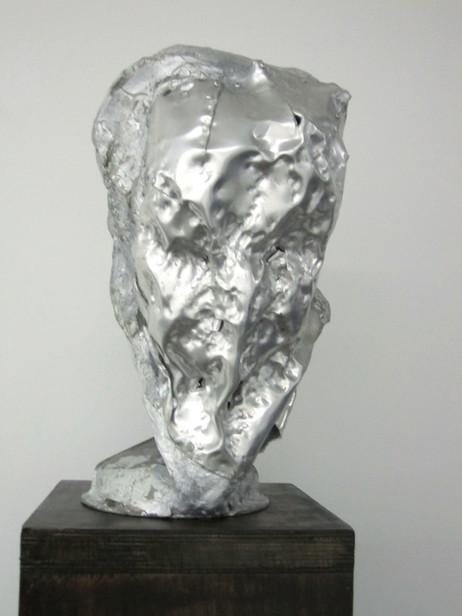 PETER ROGIERS Old lady, 2011 aluminium, acrylic resin, steel, wood 190 x 30 x 31 cm