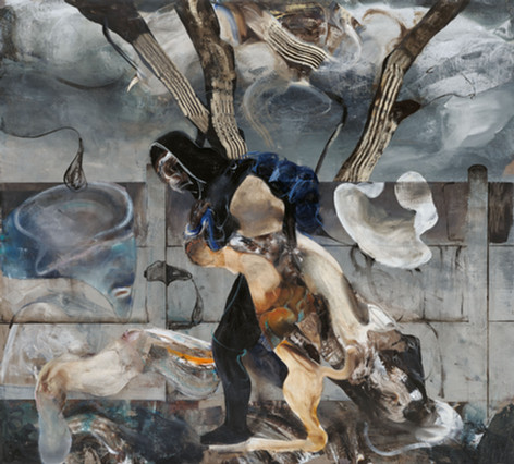 ADRIAN GHENIE Untitled (After Henri Rousseau), 2020 oil on canvas 270 x 300 cm