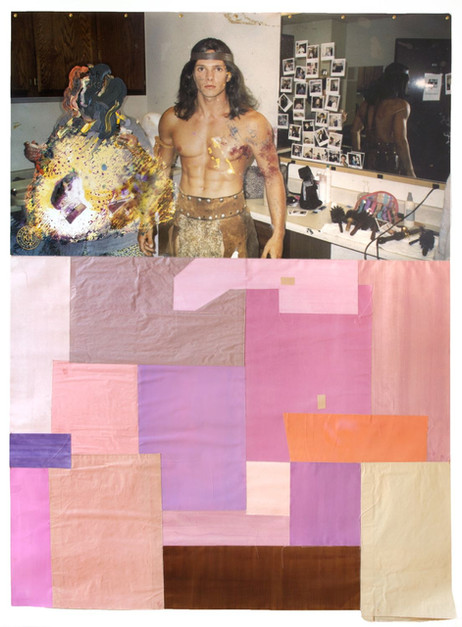 KATI HECK Brief an B., 2017 collage, photograph, oil on Baryte paper,water color on paper, tape, artist frame 193 x 140 cm