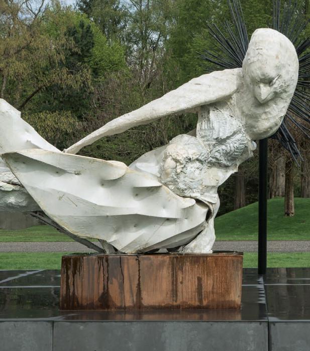 PETER ROGIERS The Governess (remastered), 2009 acrylic resin, steel, corten steel, aluminium, epoxy 188 x 265 x 148 cm