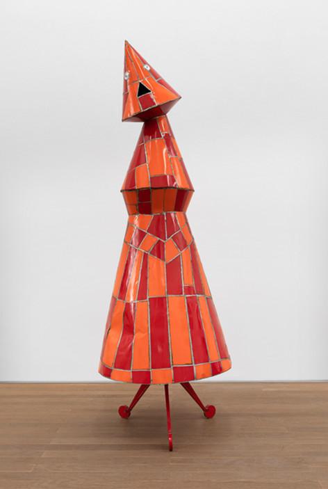 MARCEL DZAMA The Red Queen, 2015 steel ⌀ 70 x 200 cm
