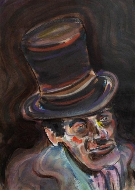 RYAN MOSLEY From the Ballroom, 2020 oil on paper 41 x 29,5 cm, 51 x 39,5 cm (framed)