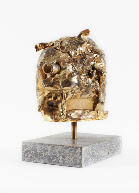 JONATHAN MEESE DAS GOLDENE SCHWEINDERLIN DE LARGE (FELDSTECHERZ), 2007 - 2017 bronze, gold patina 35 x 18 x 24 cm edition of 3 and 1 A.P.