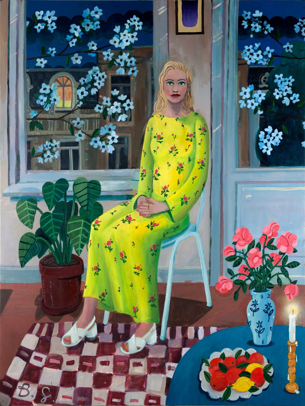 BEN SLEDSENS, Girl in the Yellow Flower Dress, 2018