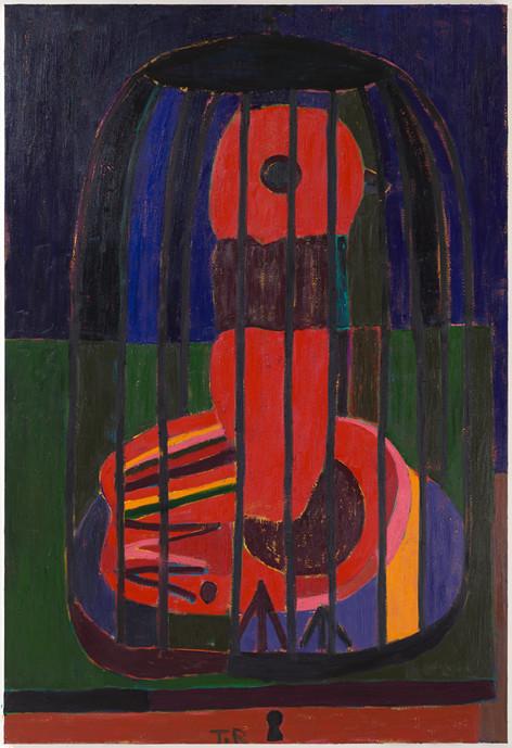 TAL R August, 2019-2020 oil on canvas 294 x 200 cm