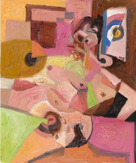 ANTON HENNING Pin-up No. 235, 2018 oil on canvas 120 x 100 cm