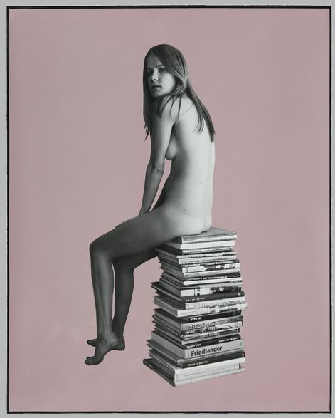 ED TEMPLETON Lucy, Lavender, 2013 photograph, spray paint 113 x 93 cm