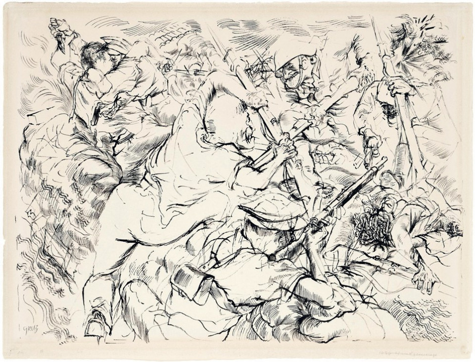 GEORGE GROSZ, Close Combat (Handgemenge), 1936