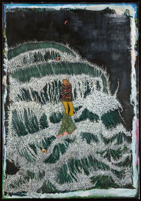 BRAM DEMUNTER The Wild Onrush of the Waves, 2019 - 2021 oil on canvas 179 x 124,5 cm