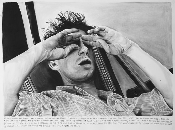 RINUS VAN DE VELDE, Conrad was only massaging his forehead to model his idea and push them through his mouth into the world, 2011
