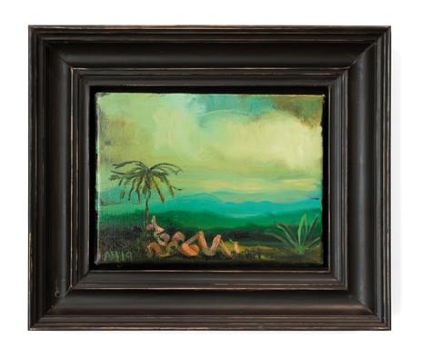 ANTON HENNING  Das Paradies No.2, 2019   oil on canvas 18,7 x 24 cm