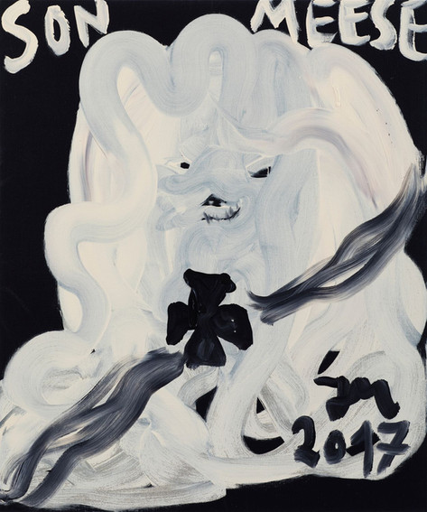 JONATHAN MEESE DON WUFF-WUFF-GERMANY DE LARGE!, 2017 acrylic on canvas 120,5 x 100,3 x 3,3 cm