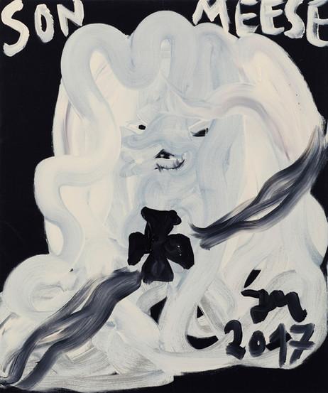 JONATHAN MEESE DON WUFF-WUFF-GERMANY DE LARGE!, 2017 acrylic on canvas 120,5 x 100,3 x 3,3 cm