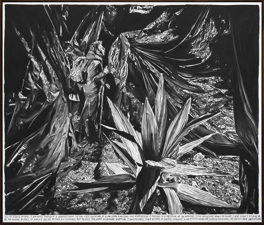RINUS VAN DE VELDE, Ill as never before, I wander through a tropical heat,..., 2015