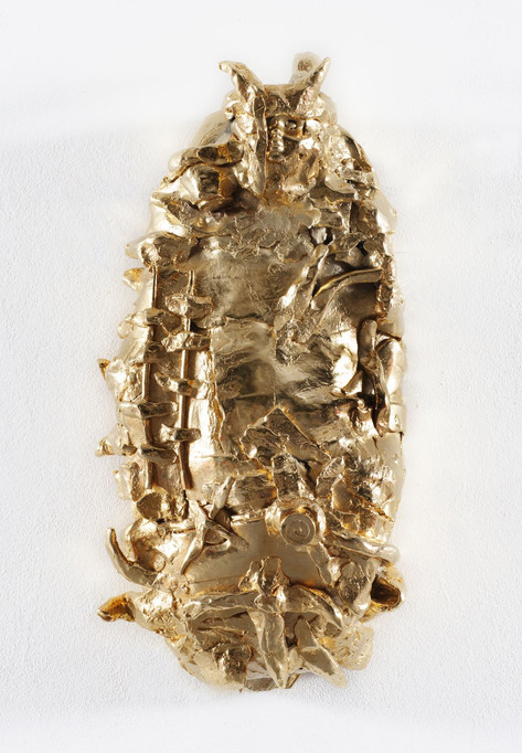 JONATHAN MEESE DAS GOLDENE BROT DE PUPPENSTOLLEN DE LARGE, 2007 bronze, gold patina 60 x 27 x 17 cm edition of 3 and 1 A.P.