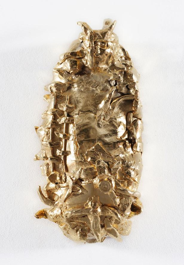 JONATHAN MEESE DAS GOLDENE BROT DE PUPPENSTOLLEN DE LARGE, 2007 bronze, gold patina 60 x 27 x 17 cm edition of 3 and 1 A.P.