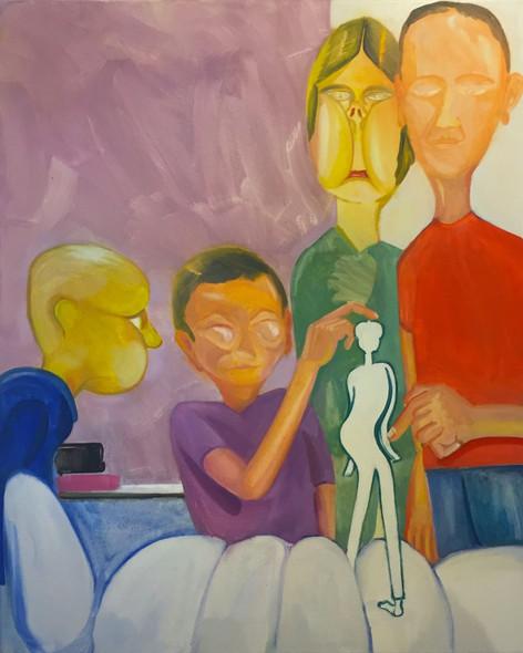 TOMASZ KOWALSKI Bez Tytulu, 2017 oil on canvas 100 x 80 cm