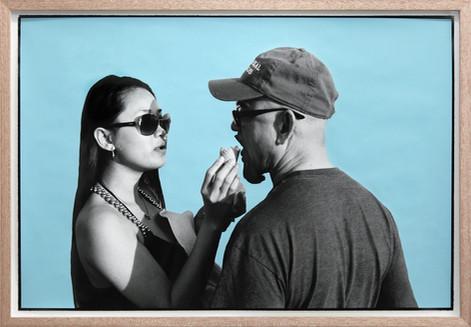 ED TEMPLETON Ice Cream Couple, Huntington Beach, 2013 unique photograph with paint 65 x 93,5 cm