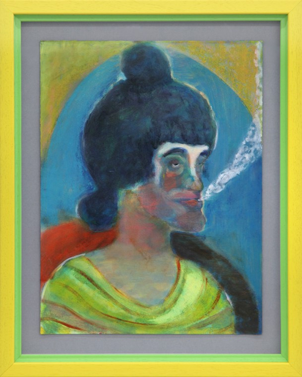 RYAN MOSLEY, Smoking and thinking, 2016
