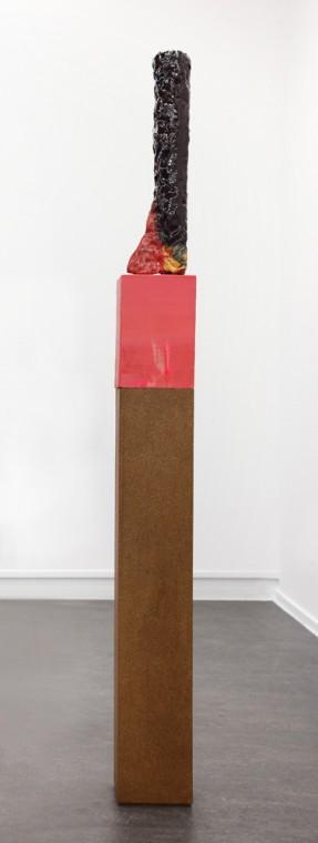 TAL R Nose, 2010-2013 ceramic glazed Work: 65 x 15 x 8cm   Artist made plinth: 26 x 16 x 16 cm Regular plinth: 91 x 16 x 16 cm