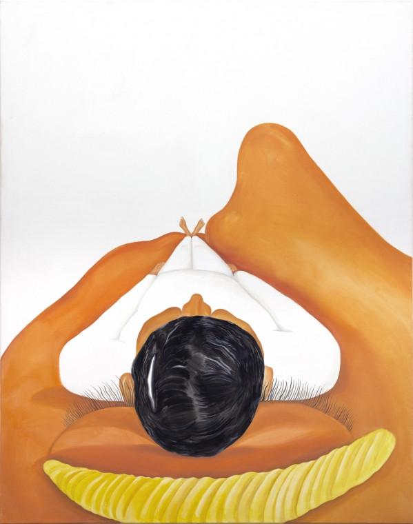 TOMASZ KOWALSKI, Pillow, 2018 oil on canvas 164,5 x 130 cm