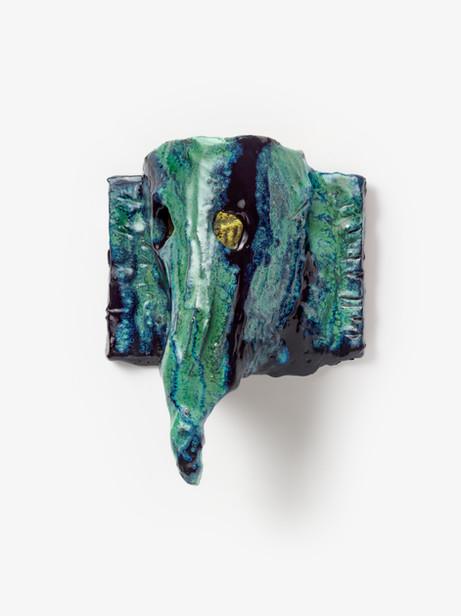 JONATHAN MEESE ELEFANTI-BABY RÜSSELT!, 2020 glazed ceramic 27,5 x 21,5 x 11 cm