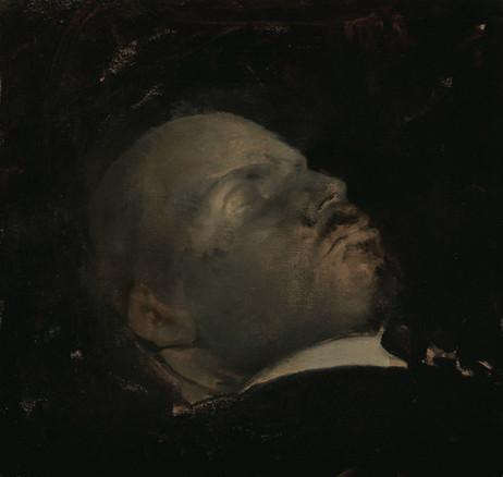 ADRIAN GHENIE Turning Blue, 2008 oil on canvas 30 x 31,5 cm