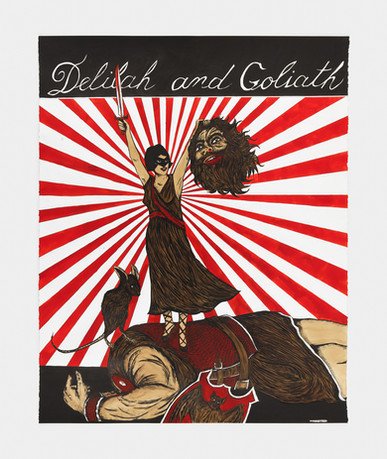MARCEL DZAMA, A Time Will Come or Delilah and Goliath, 2017