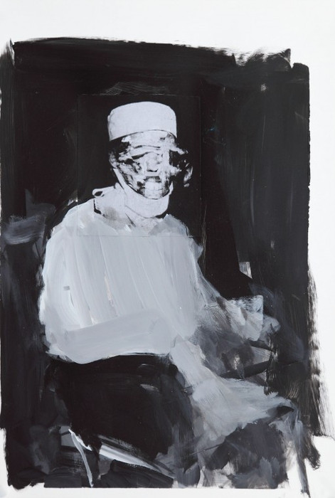 ADRIAN GHENIE, Study for The Kaiser Wilhelm Institute 4, 2011