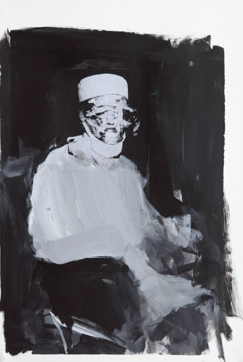 ADRIAN GHENIE, Study for The Kaiser Wilhelm Institute 4, 2011