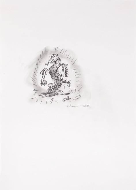ARMEN ELOYAN Stump Drawing 9, 2018 pencil on paper, framed 42 x 29,7 cm