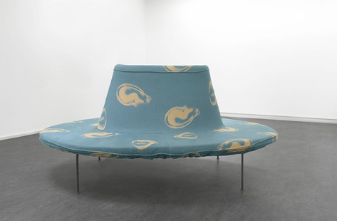 "FRANZ WEST Pouf ""Kompliment"", 2005 Iron, Foam, Linnen, Cotton 80 x 220 x 150cm"