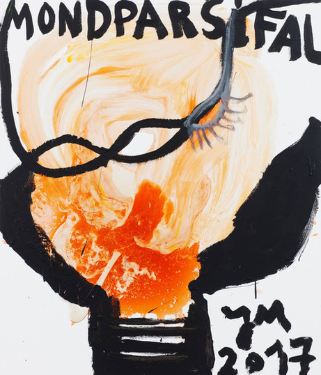 JONATHAN MEESE DER WICHTIGSTE STÖRENFRIED, 2017 acrylic and Caparol-dispersion binder on canvas 140,4 x 120,3 x 3,3 cm