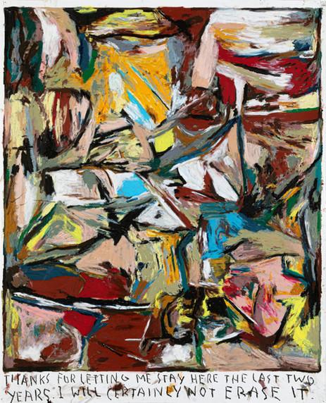 RINUS VAN DE VELDE Thanks for letting me stay here..., 2020 oil pastel on paper 137 x 110,2 cm 160,8 x 134,3 x 5 cm (frame)