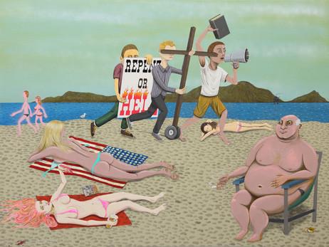 ED TEMPLETON Repent, 2015 76.2 x 101.6 x 4.5 cm  acrylic on panel