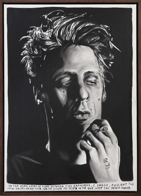 RINUS VAN DE VELDE, In the dark folds of time between two drawings,…, 2014