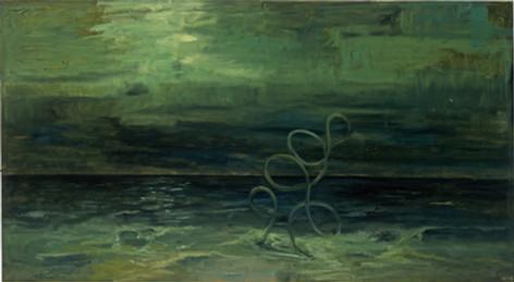 ANTON HENNING Blumenstilleben No. 319, 2006 oil on canvas 144 x 262 cm