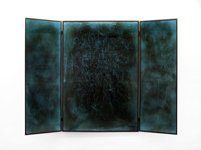 EDWARD LIPSKI, Mystical Vandalism Triptych I, 2017